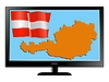 Vector clipart: Austria on TV