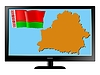 Vector clipart: Belarus on TV