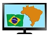 Vector clipart: Brazil on TV