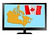 Vector clipart: Canada on TV