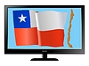 Vector clipart: Chile on TV