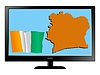 Vector clipart: Cote d'Ivoire on TV