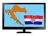 Vector clipart: Croatia on TV