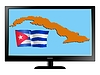 Vector clipart: Cuba on TV