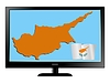 Vector clipart: Cyprus on TV