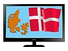 Vector clipart: Denmark on TV
