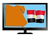 Vector clipart: Egypt on TV