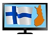 Vector clipart: Finland on TV