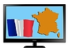 Vector clipart: France on TV
