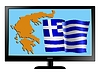 Vector clipart: Greece on TV
