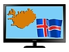 Vector clipart: Iceland on TV
