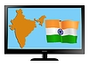Vector clipart: India on TV