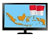 Vector clipart: Indonesia on TV