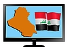 Vector clipart: Iraq on TV