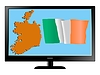 Vector clipart: Ireland on TV