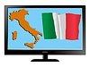 Vector clipart: Italy on TV