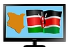 Vector clipart: Kenya on TV