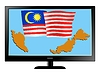 Vector clipart: Malaysia on TV
