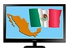 Vector clipart: Mexico on TV