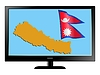 Vector clipart: Nepal on TV