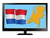 Vector clipart: Netherlands on TV
