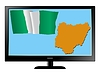 Vector clipart: Nigeria on TV