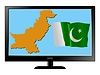 Vector clipart: Pakistan on TV