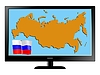 Vector clipart: Russia on TV