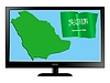 Vector clipart: Saudi Arabia on TV