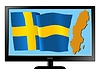 Vector clipart: Sweden on TV