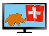 Vector clipart: Switzerland on TV