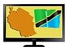 Vector clipart: Tanzania on TV