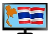 Vector clipart: Thailand on TV