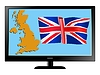 Vector clipart: United Kingdom on TV