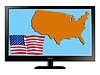 Vector clipart: USA on TV