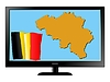 Vector clipart: Belgium on TV
