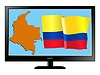 Vector clipart: Colombia on TV