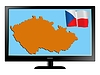 Vector clipart: Czech Republic on TV