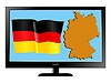 Vector clipart: Germany on TV
