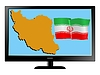 Vector clipart: Iran on TV