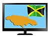 Vector clipart: Jamaica on TV
