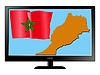 Vector clipart: Morocco on TV
