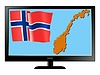 Vector clipart: Norway on TV