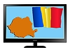 Vector clipart: Romania on TV