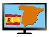 Vector clipart: Spain on TV
