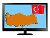 Vector clipart: Turkey on TV