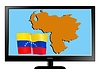 Vector clipart: Venezuela on TV