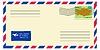 Векторный клипарт: Письмо из / в Казахстан
