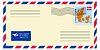 Vector clipart: letter to/from Denmark