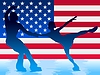 Vector clipart: couple of figure skating